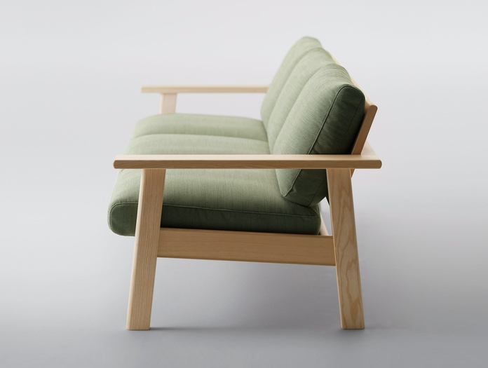 Maruni Bruno 3 Seater Sofa Ash End