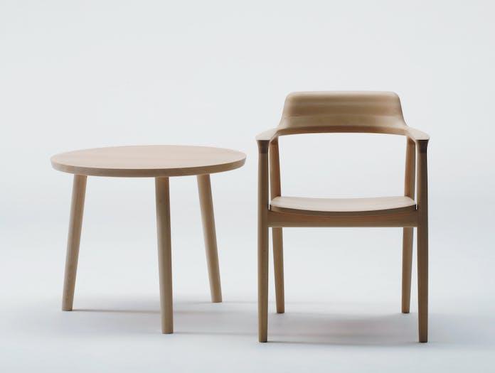 Maruni Hiroshima Armchair Beech Side Table