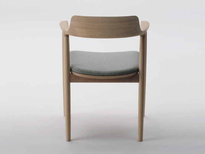 Maruni Hiroshima Armchair Oak Fabric Back