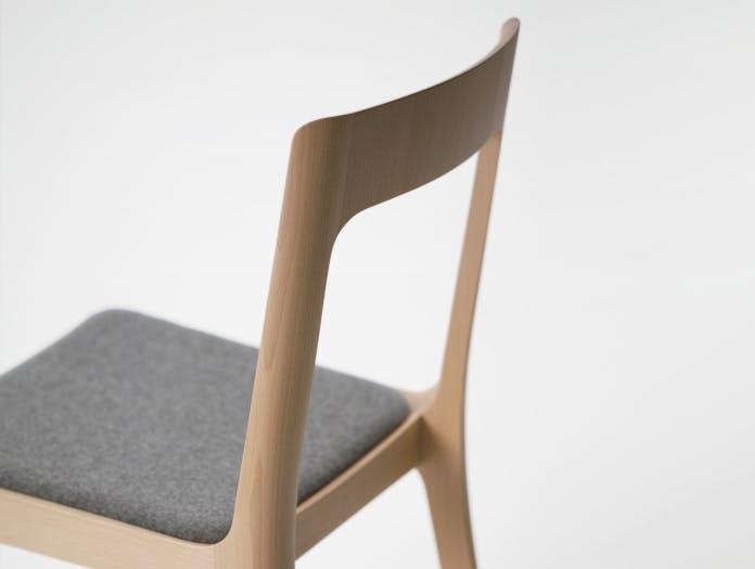 Maruni Hiroshima Side Chair Beech Back Detail