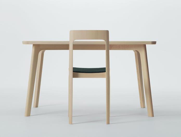 Maruni Hiroshima Side Chair Table Beech