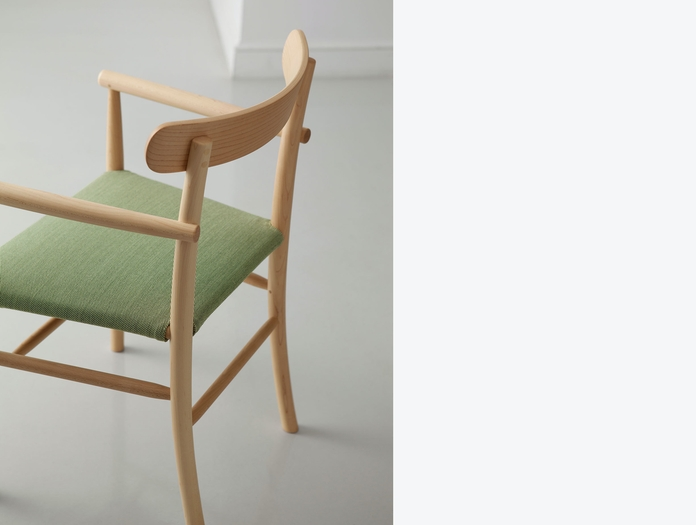 Maruni Lightwood Armchair Detail Maple