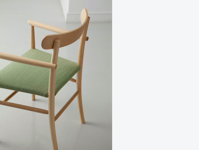 Maruni Lightwood Armchair Detail Maple