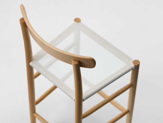 Maruni Lightwood Stool Mesh Seat