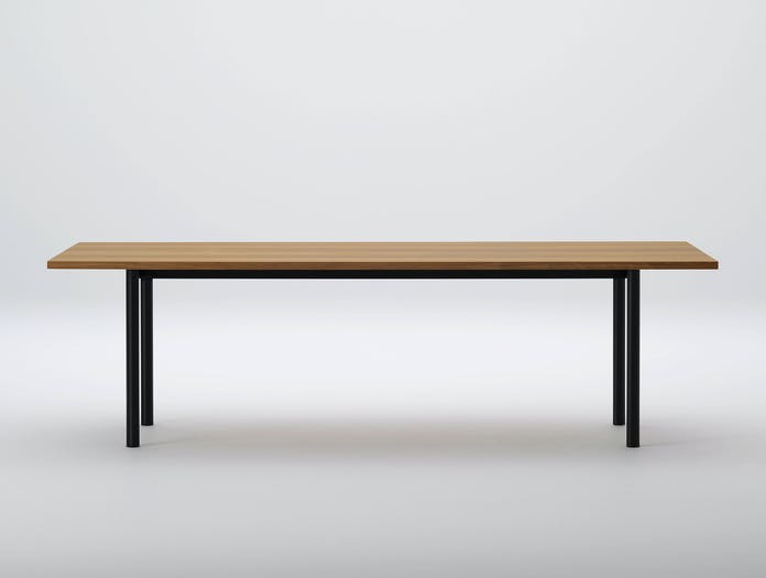 Maruni Malta Table 240 Steel Oak