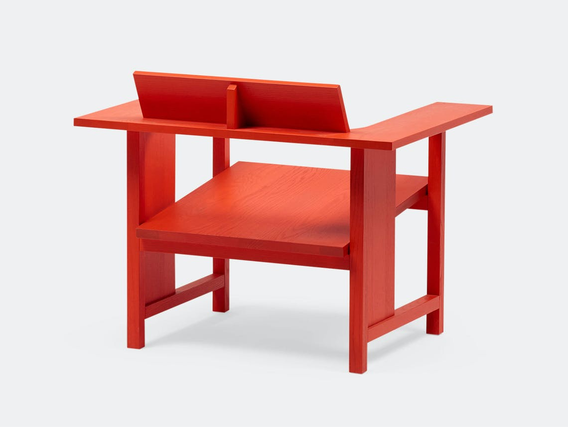 Mattiazzi Clerici Lounge Chair Red Konstantin Grcic