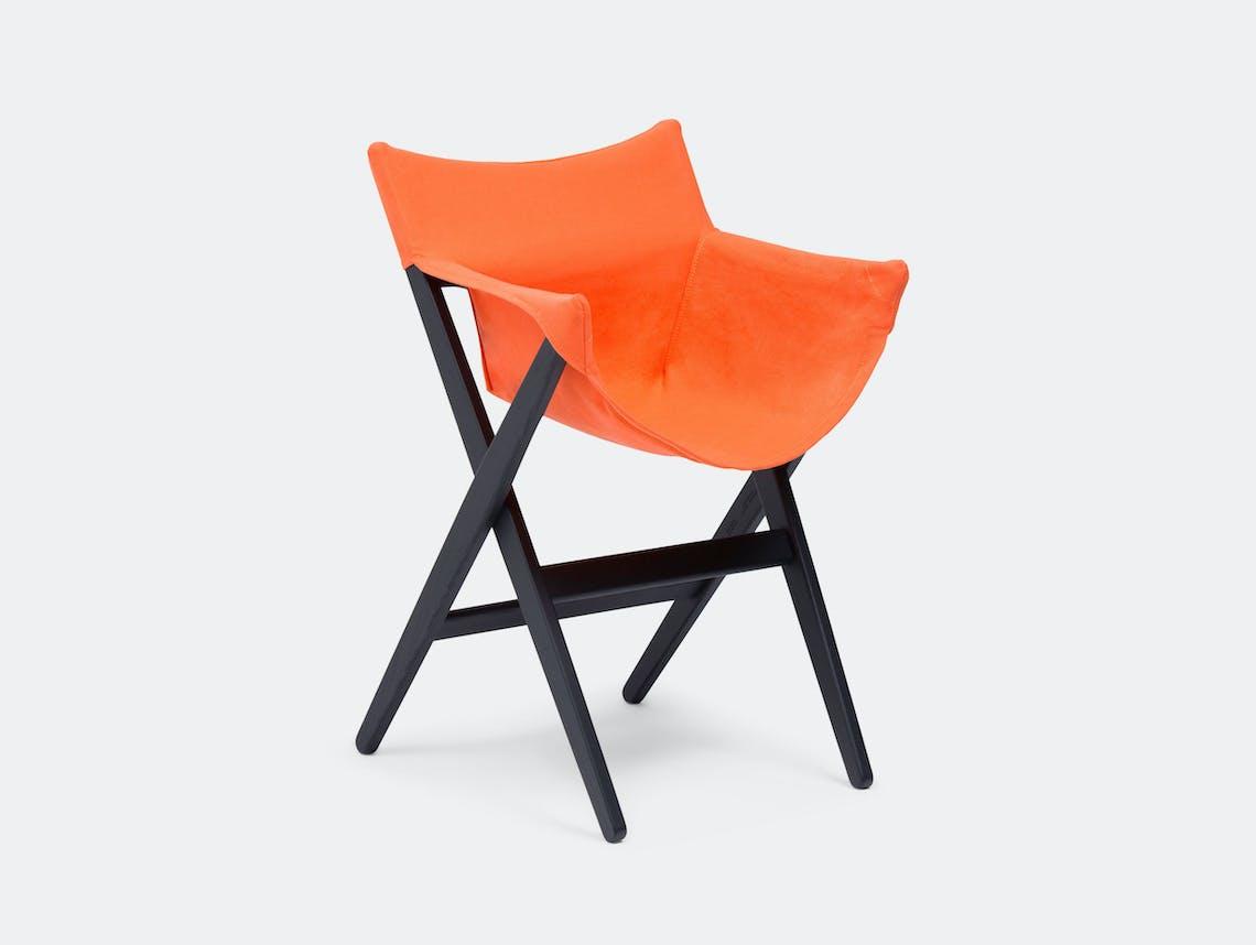 Mattiazzi Fionda Side Chair Black Ash Orange Jasper Morrison
