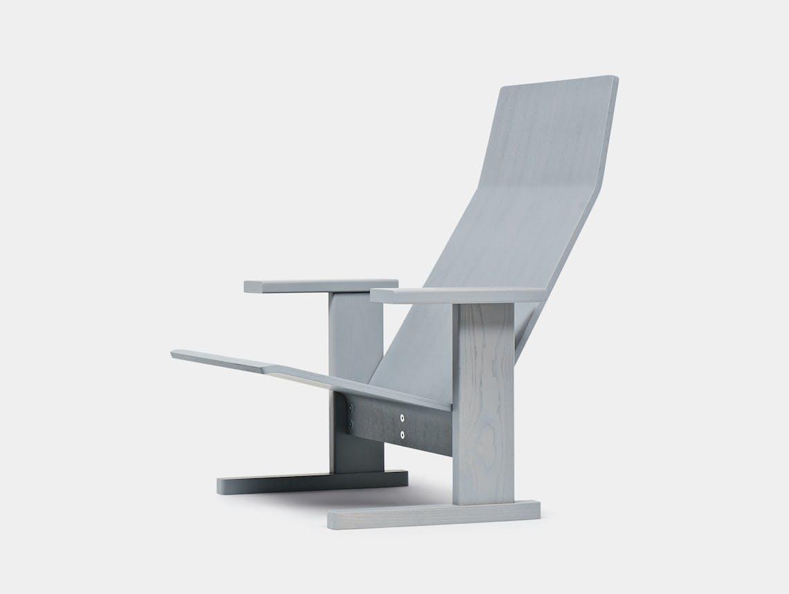 Mattiazzi Quindici Lounge Chair Grey Ronan Erwan Bouroullec