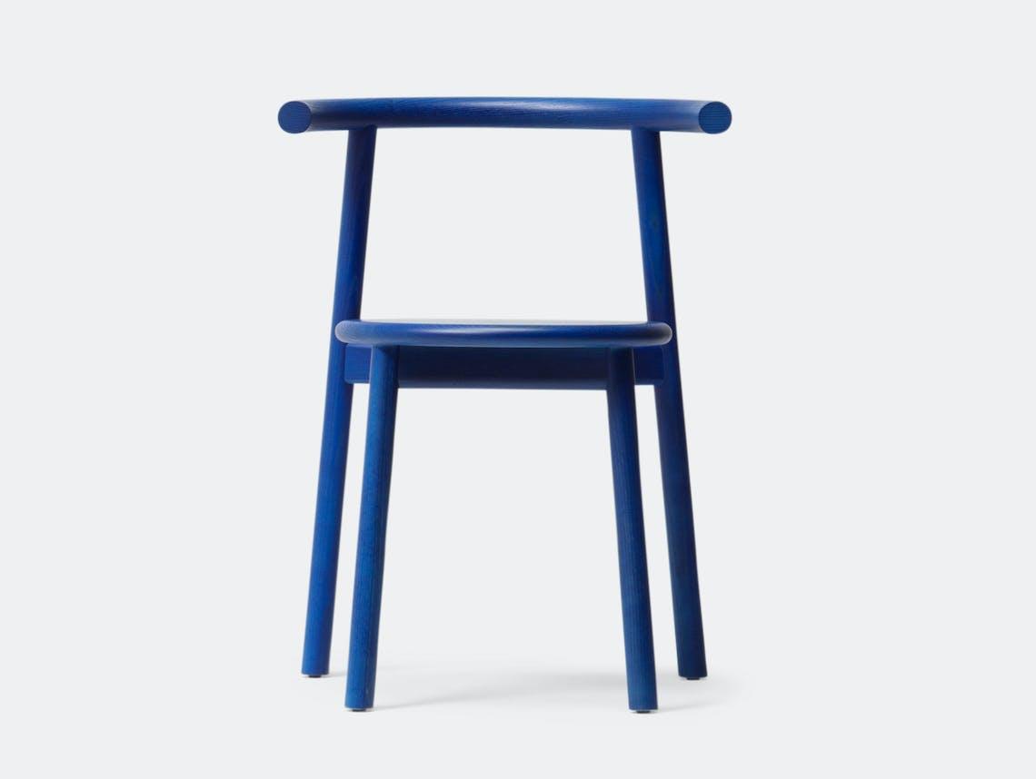 Mattiazzi Solo Chair Blue Ash Studio Nitzan Cohen
