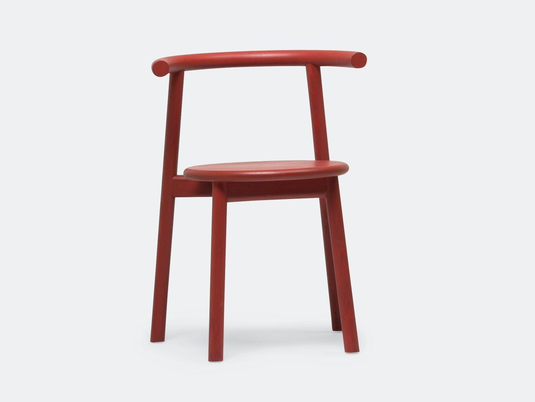 Mattiazzi Solo Chair Red Ash Studio Nitzan Cohen
