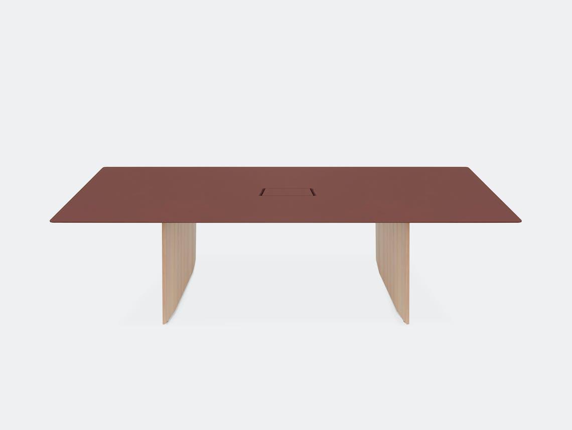 Mattiazzi fronda desk rosso jaipur 240 cable ct 2