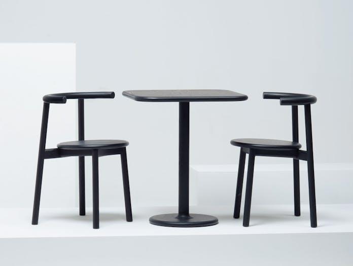Mattiazzi Solo Chair Black Table Studio Nitzan Cohen