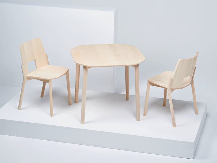 Mattiazzi Tronco Chair Ash Table Industrial Facility
