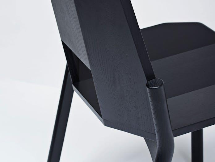 Mattiazzi Tronco Chair Black Detail Industrial Facility