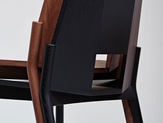 Mattiazzi Tronco Chair Stack Detail Industrial Facility