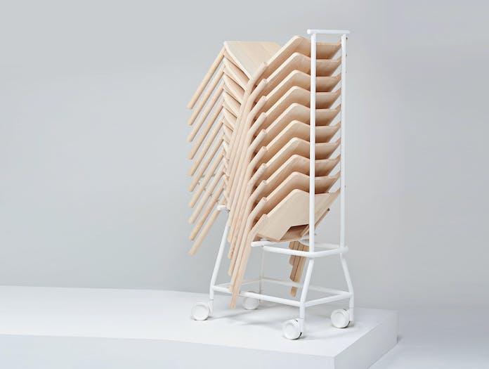 Mattiazzi Tronco Chair Stack Trolley Industrial Facility