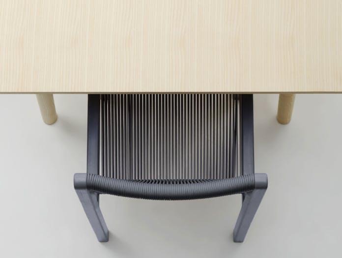 Mattiazzi filo chair grey aerial view