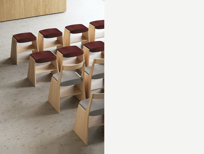 Mattiazzi fronda soft stool chair