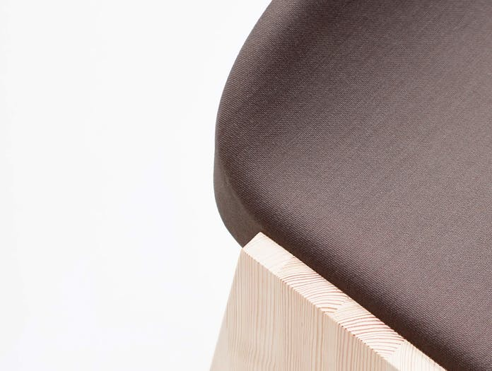 Mattiazzi fronda soft stool marron cl