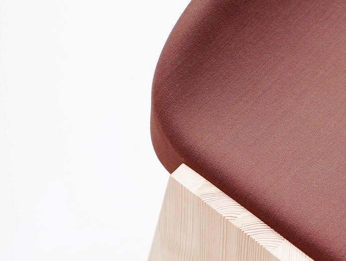Mattiazzi fronda soft stool red cl