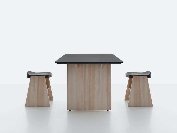 Mattiazzi fronda table black pine ls 3