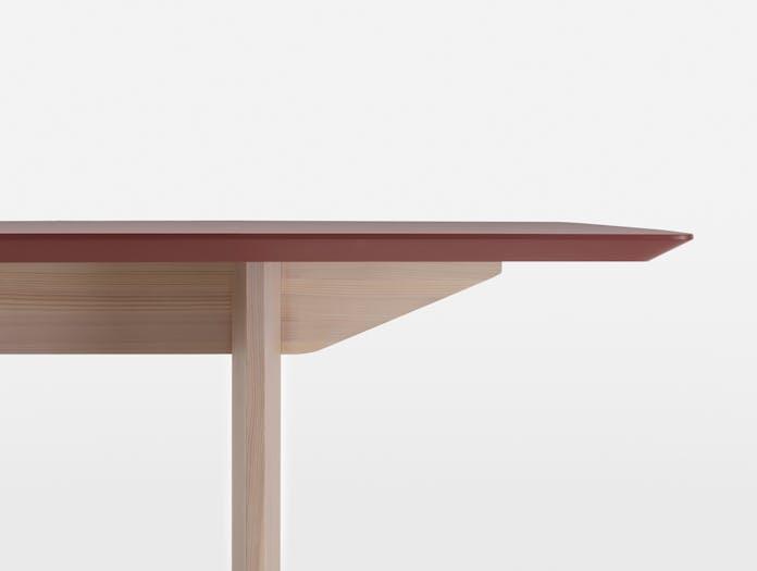 Mattiazzi fronda table rosso jaipur pine ls 6