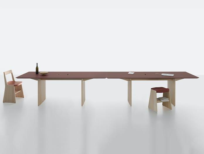 Mattiazzi fronda table rosso pine 240 cable ls