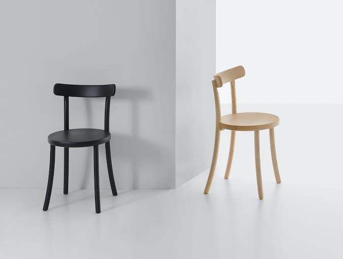 Mattiazzi zampa chair black natural ash
