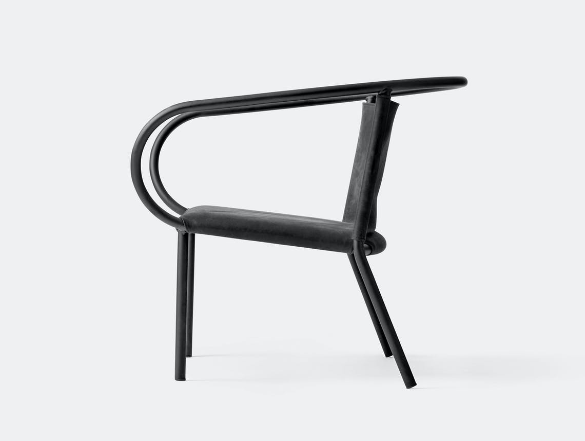 Menu Afteroom Lounge Chair Black Leather