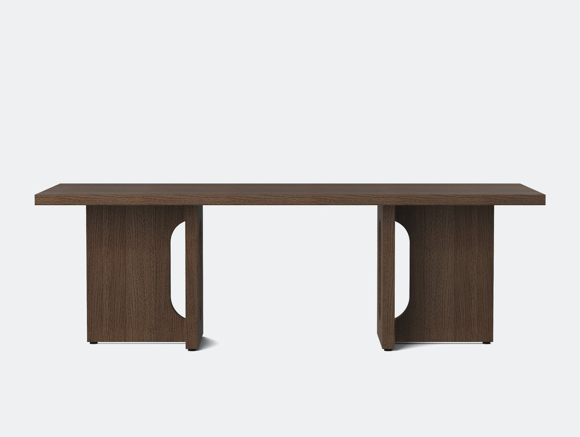 Menu androgyne lounge table dark stained oak breccia front