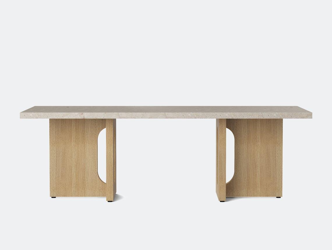 Menu androgyne lounge table nat oak breccia top front