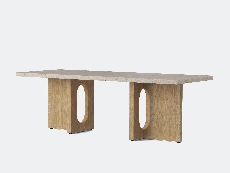 Menu androgyne lounge table nat oak breccia top