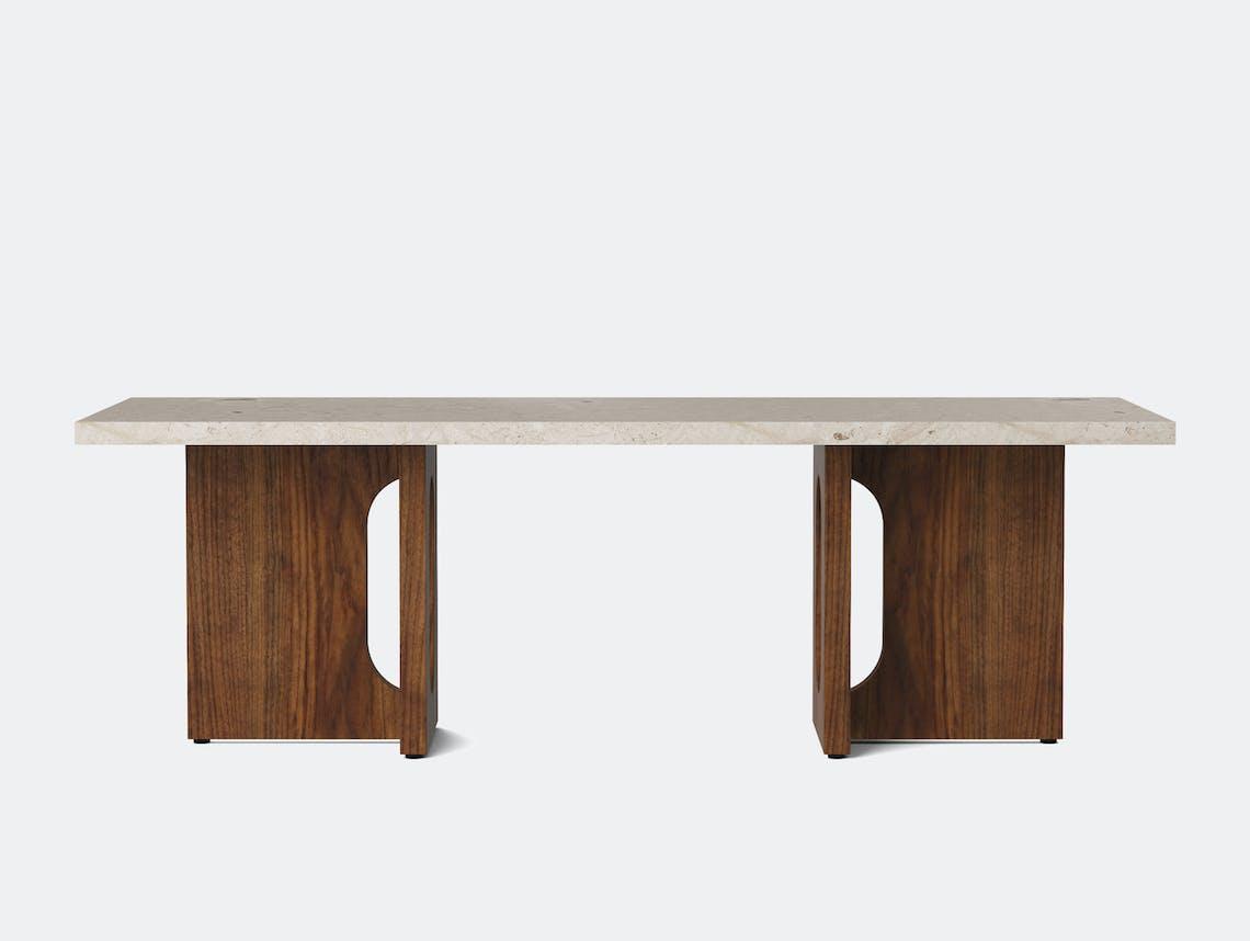 Menu androgyne lounge table walnut breccia front