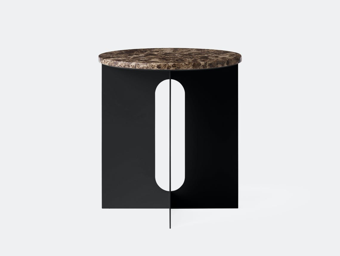 Menu androgyne side table black emperador marble