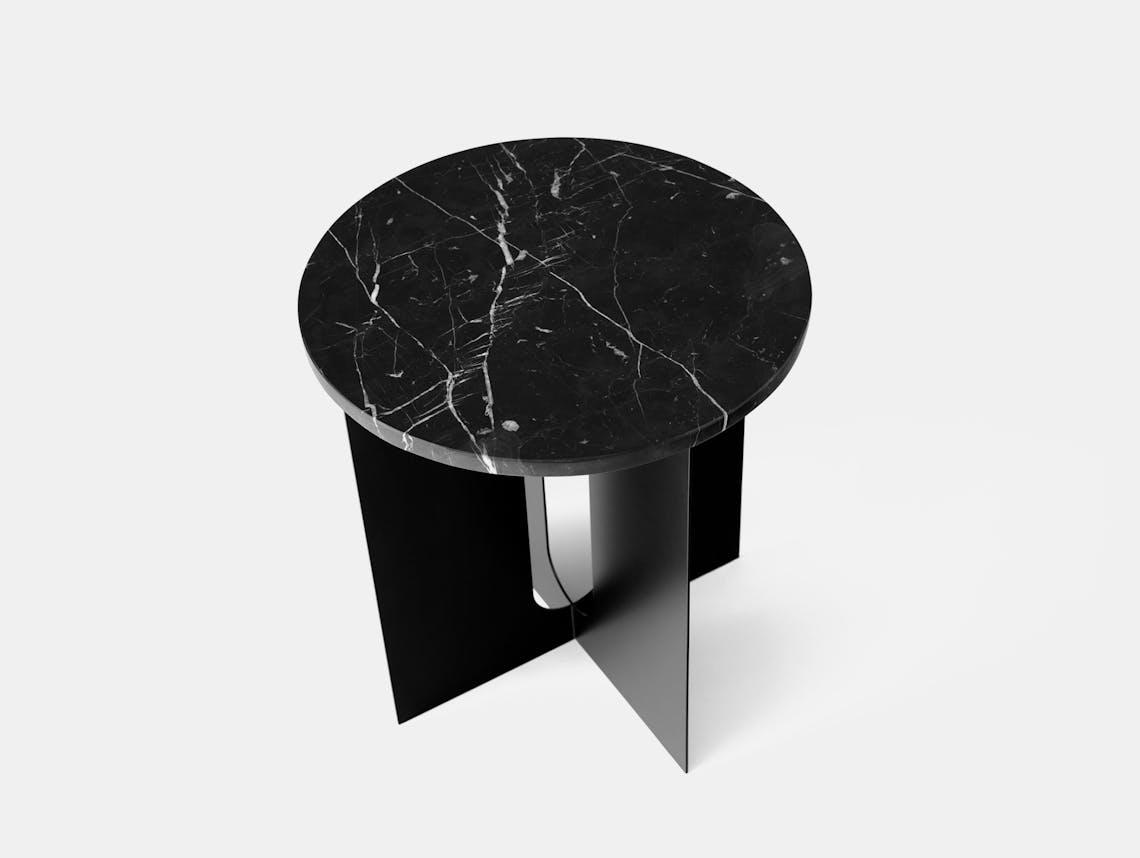 Menu androgyne side table black nero marquina marble 2