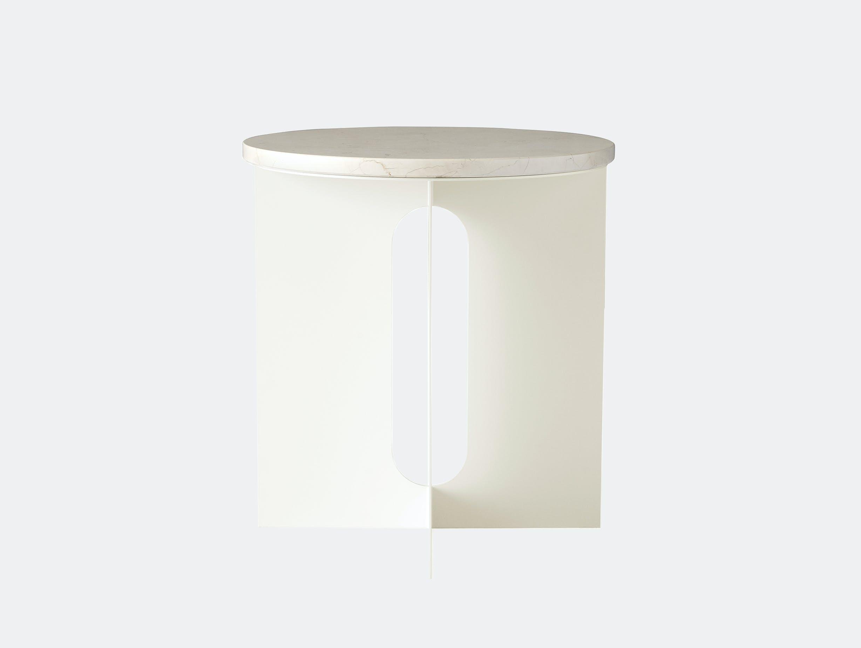 Menu androgyne side table ivory crystal rose marble