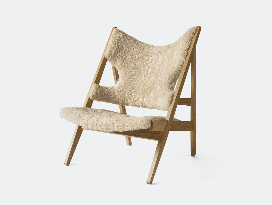 Menu knitting lounge chair natural oak