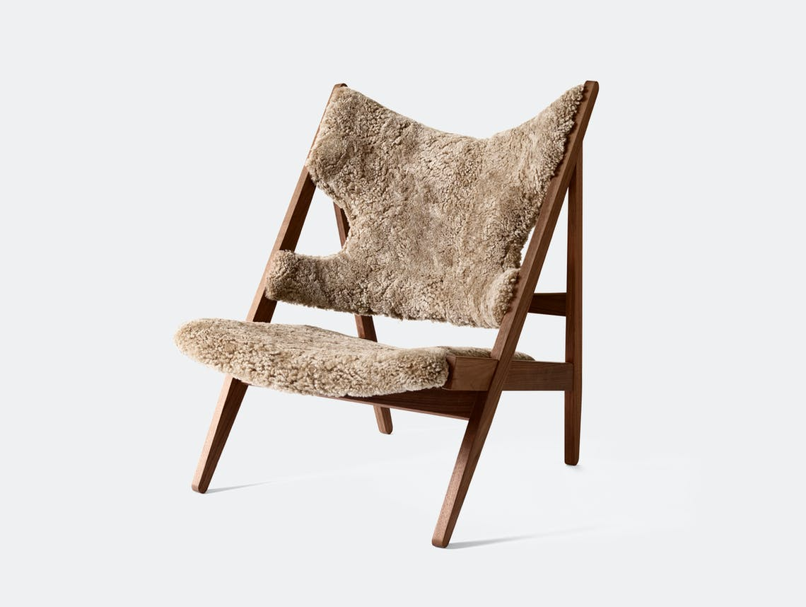 Menu knitting lounge chair walnut sahara