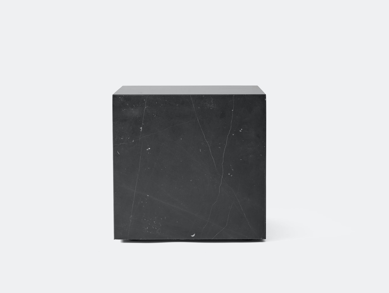 Menu plinth cubic black marble 2