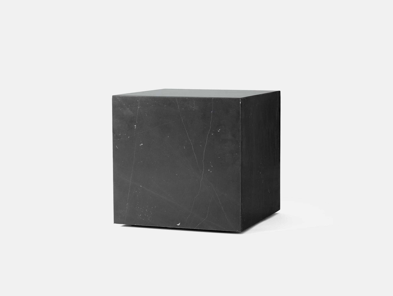 Menu plinth cubic black marble