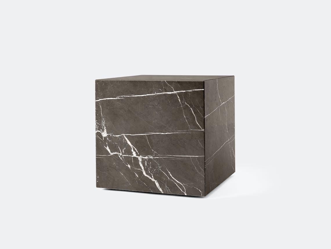 Menu plinth cubic grey marble