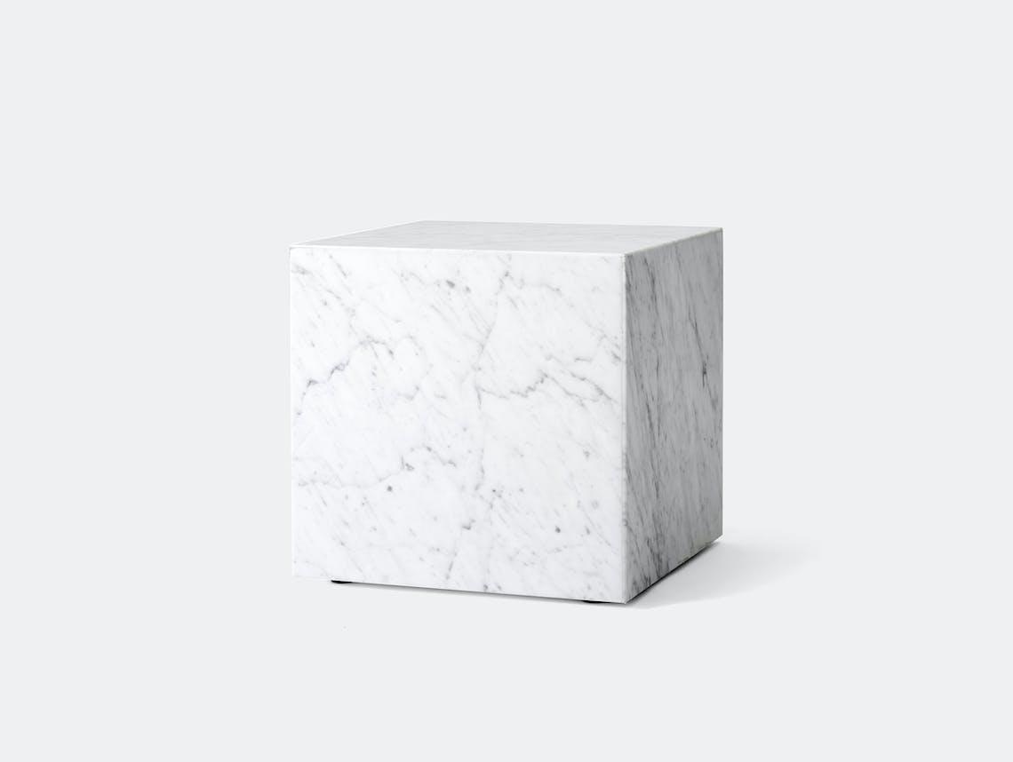 Menu plinth cubic white carrara marble