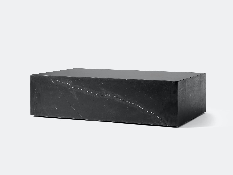 Menu plinth low black marble