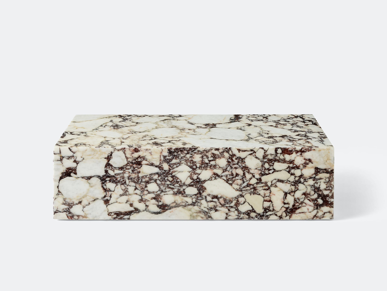 Menu plinth low calacatta viola marble