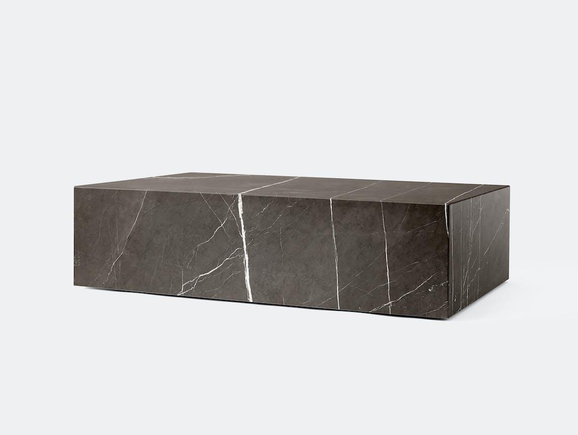 Menu plinth low grey marble
