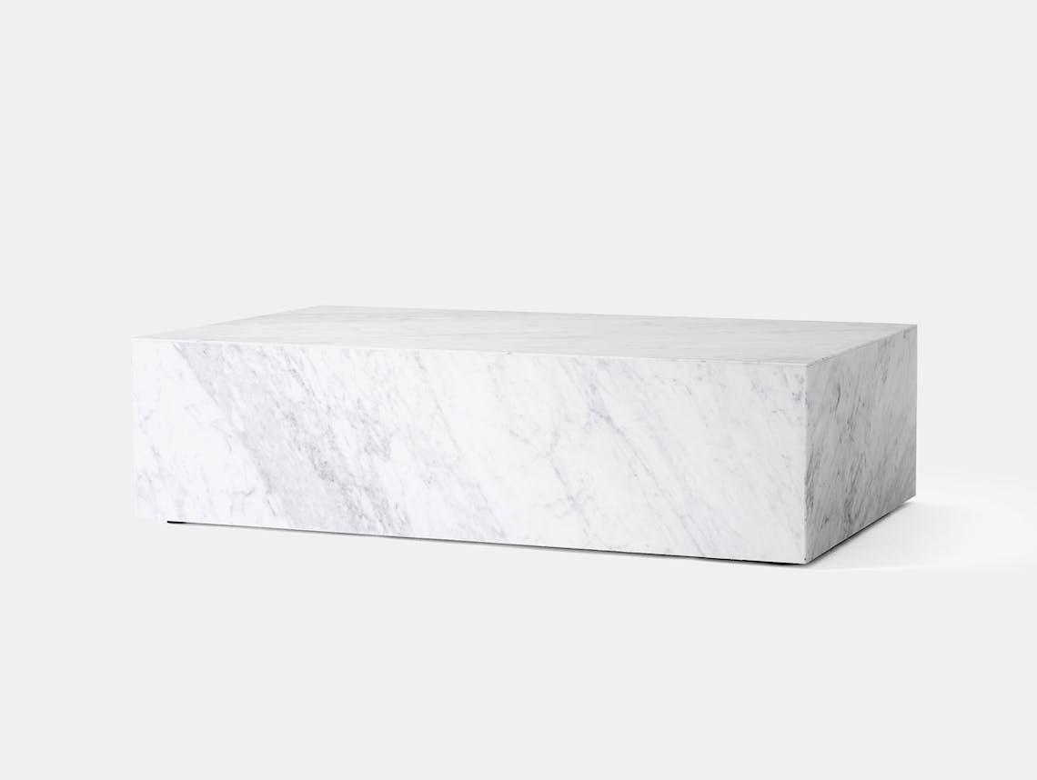 Menu plinth low white marble