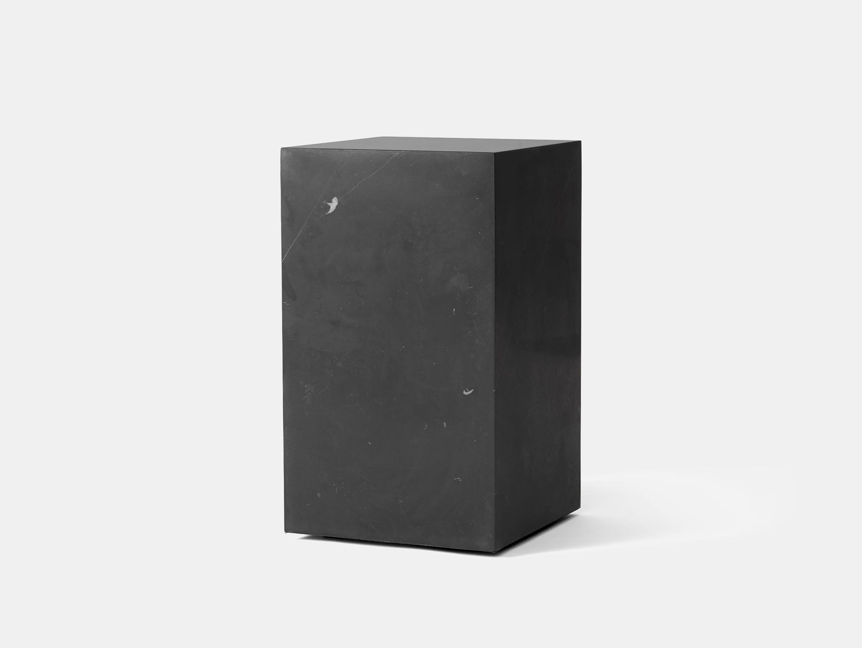 Menu plinth tall black marble