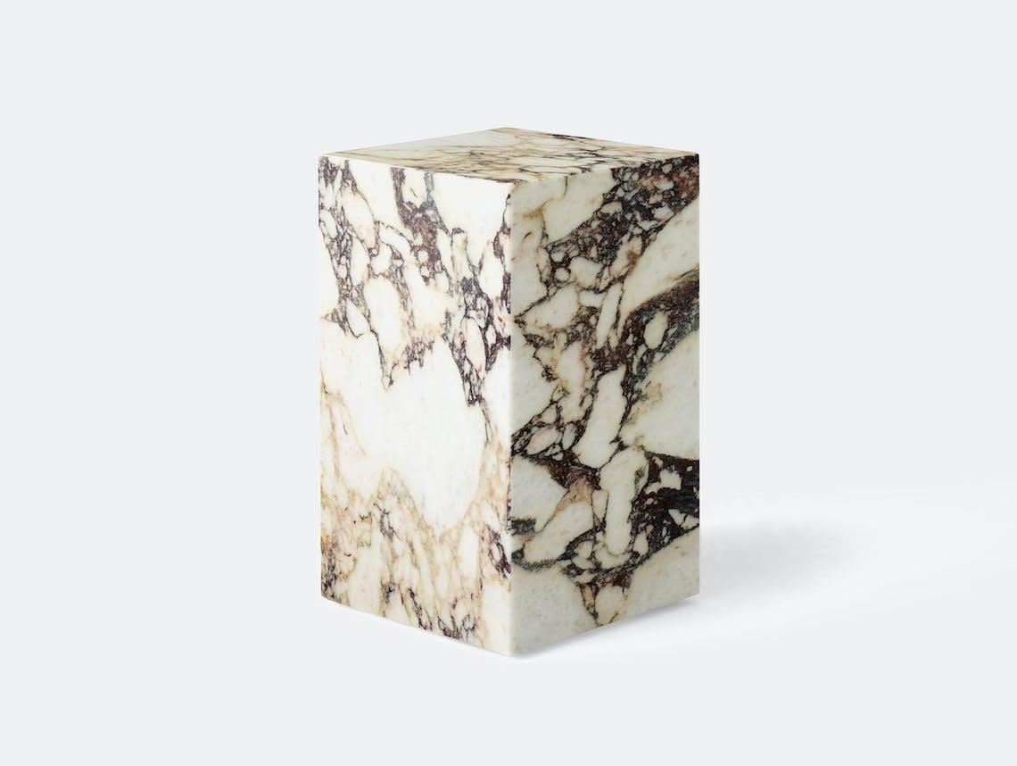 Menu plinth tall calacata viola marble