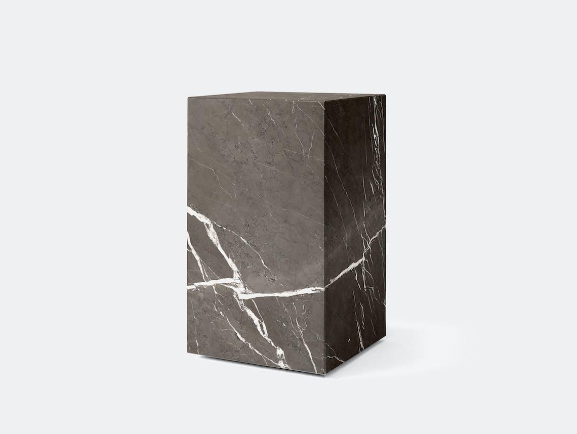 Menu plinth tall grey marble
