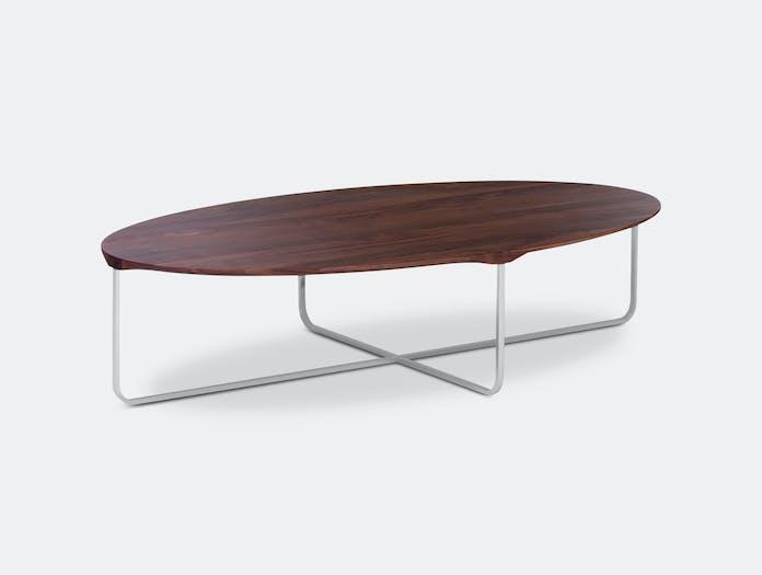 Montis Flint Coffee Table Oval Walnut Gert Batenburg